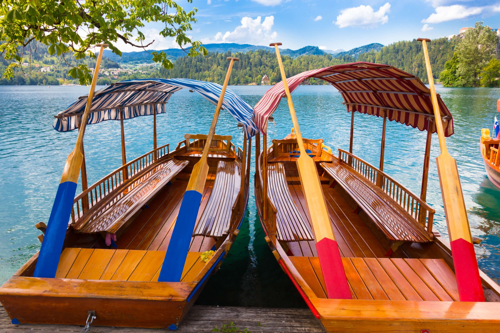 Bled island with Pletna boat